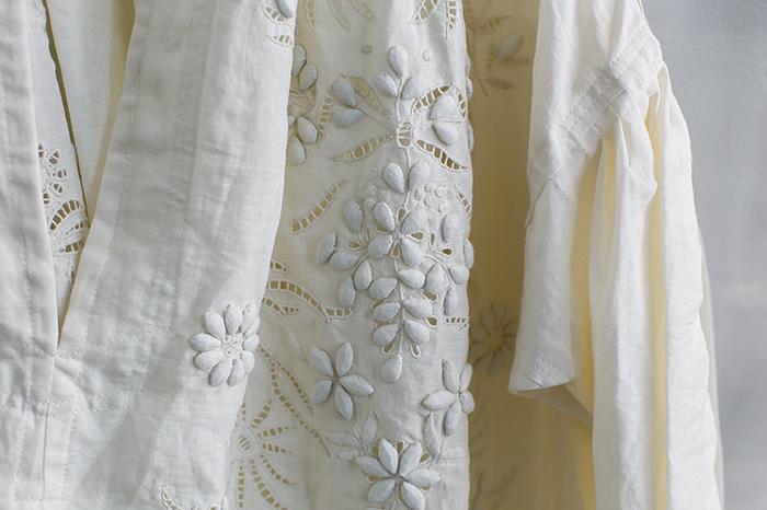 TOWAVASE刺繍スモックドレス