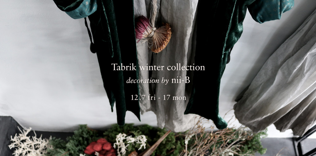 Tabrik winter collection decoration by nii-B